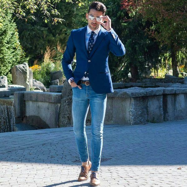 Business-Casual-Shoes-with-Denim-600x601 Men's Business Casual Shoes Guide and 20 Tips for Perfect Look