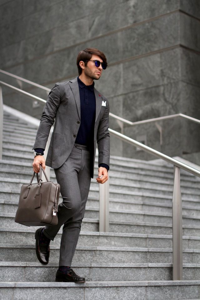 Business-Tour-Look-with-Dark-Shoes 30 Best Charcoal Grey Suits with Black Shoes For Men