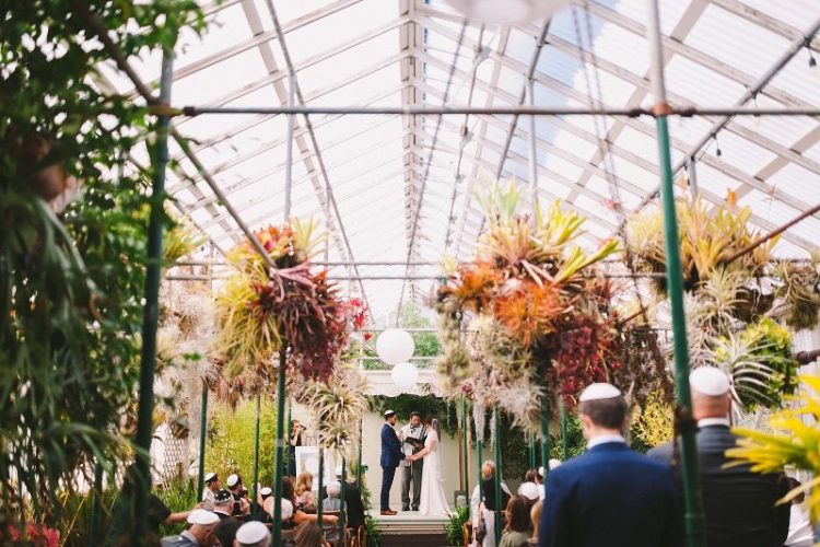 The greenhouse didn't require additional decor as it was lush and blooming itself