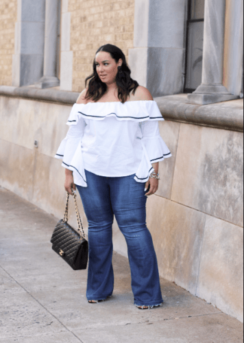 Spring-Outfit-356x500 23 Ways to Style Plus Size Off-the-Shoulder Tops for Women