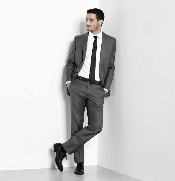 Grey-Suits-with-Black-Shoe-for-Teen-Guys 30 Best Charcoal Grey Suits with Black Shoes For Men