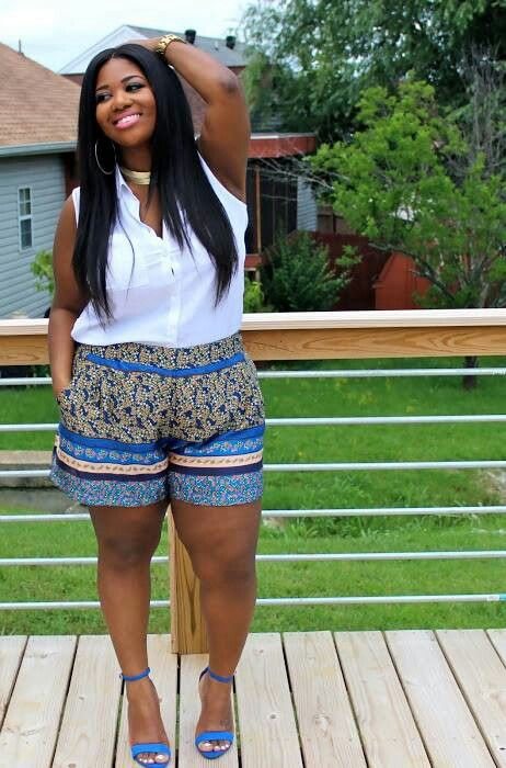 8 20 Ideas on How to Wear High Waisted Shorts for Plus Size Women