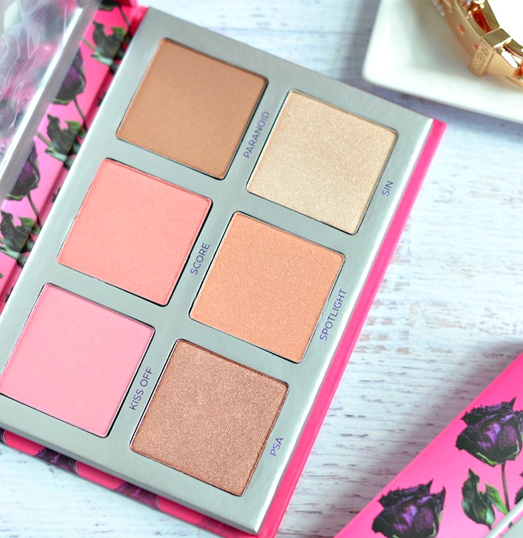 Urban Decay Sin Afterglow Highlighter Palette review and swatches
