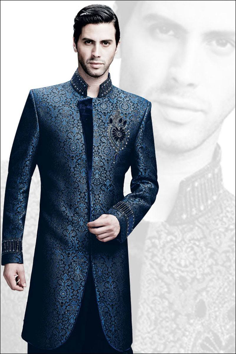 latest-sherwani-designs-for-men-2015 20 Latest Style Wedding Sherwani For Men and Styling Ideas