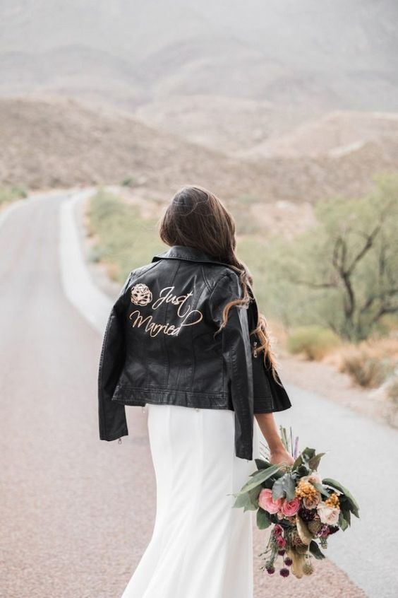 add some calligraphy and images to your black leather jacket and make a statement