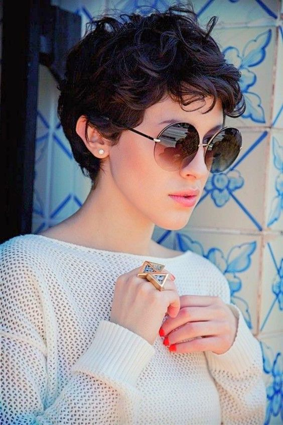 even very short hair can be curly, and it will give you a sweet and girlish look