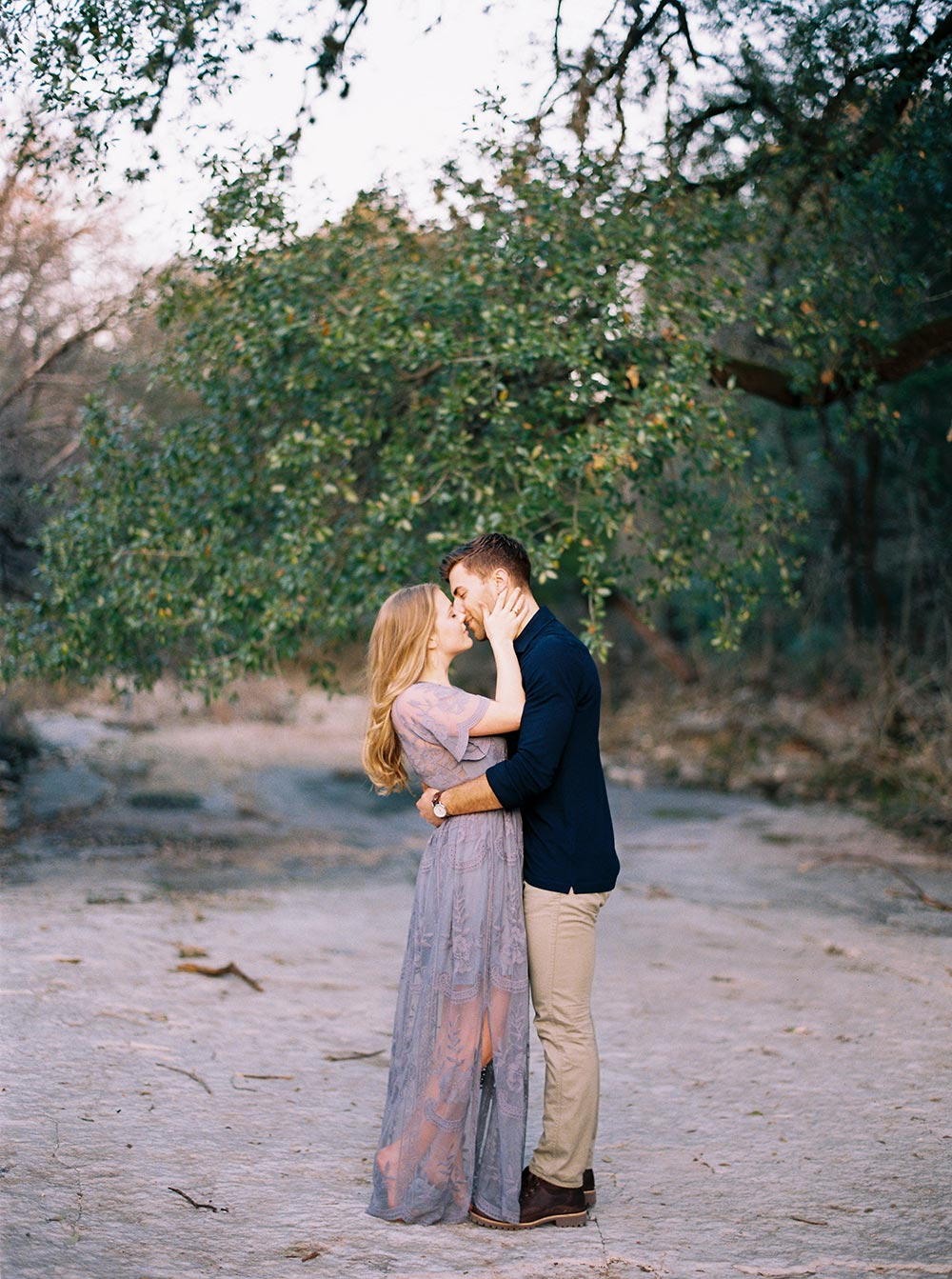 periwinkle engagement session dress