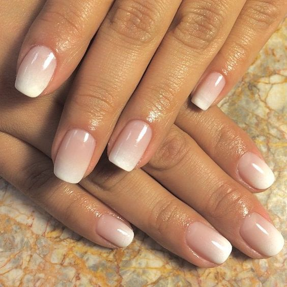 ombre French manicure is a fresh take on traditional French nails for a trendy feel