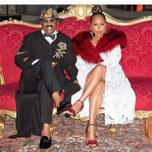 Steve-Harvey-and-Marjorie-harvey-600x600 Celebrities Couples Matching Outfits–25 Couples Who Nailed It