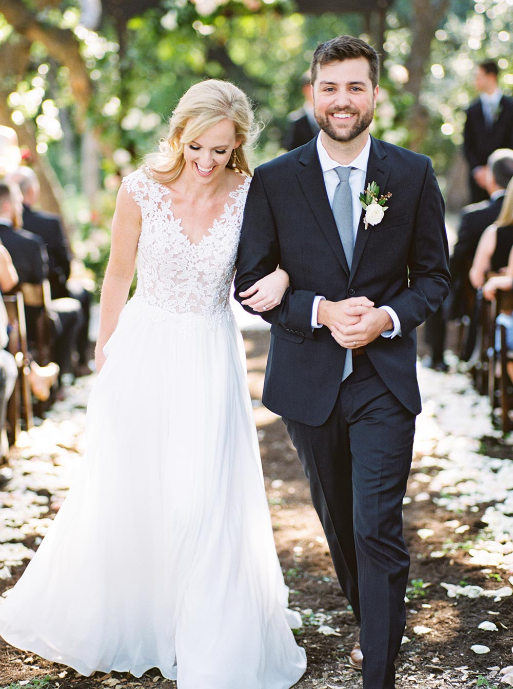 outdoor rustic chic wedding ceremony at Addison Grove