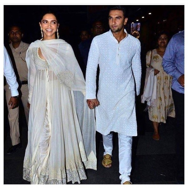 Deepika-Padukone-and-ranveer-Singh-600x600 Celebrities Couples Matching Outfits–25 Couples Who Nailed It