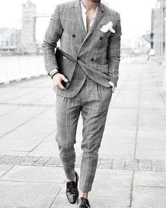 Party-Style-Charcoal-Suits-with-Black-Glossy-Shoes 30 Best Charcoal Grey Suits with Black Shoes For Men