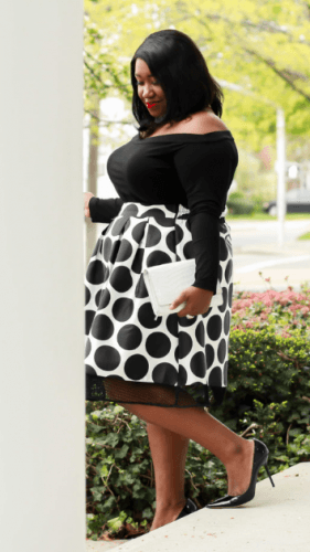 Monochromatic-Outfit-281x500 23 Ways to Style Plus Size Off-the-Shoulder Tops for Women