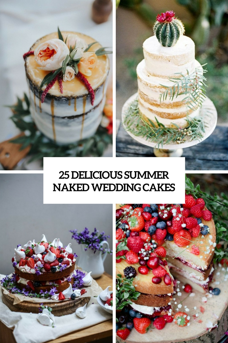 delicious naked summer wedding cakes cover