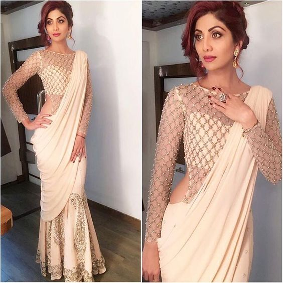 12-2 30 New Saree Blouse Designs 2018 You Must Try