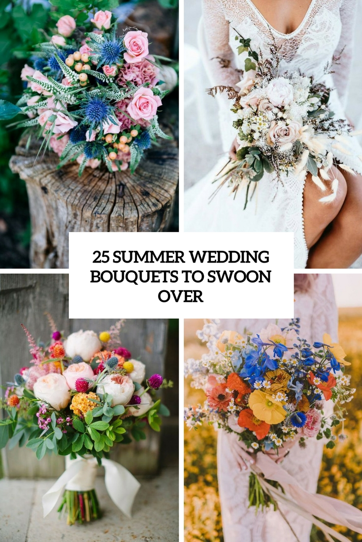 summer wedidng bouquets to swoon over cover