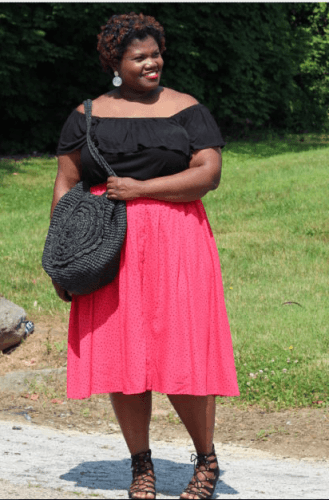 Sunday-Brunch-Outfit-329x500 23 Ways to Style Plus Size Off-the-Shoulder Tops for Women