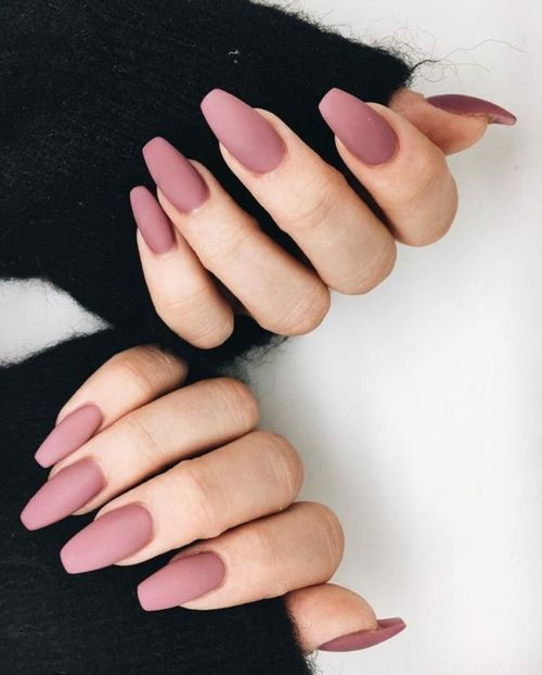 matte mauve nails are a great way to add a touch of color and make it delicately and with a muted shade