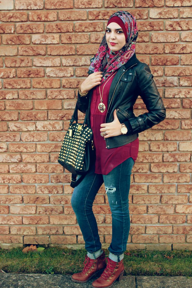 Stylish-look-with-hijab 30 Stylish Ways to Wear Hijab with Jeans for Chic look