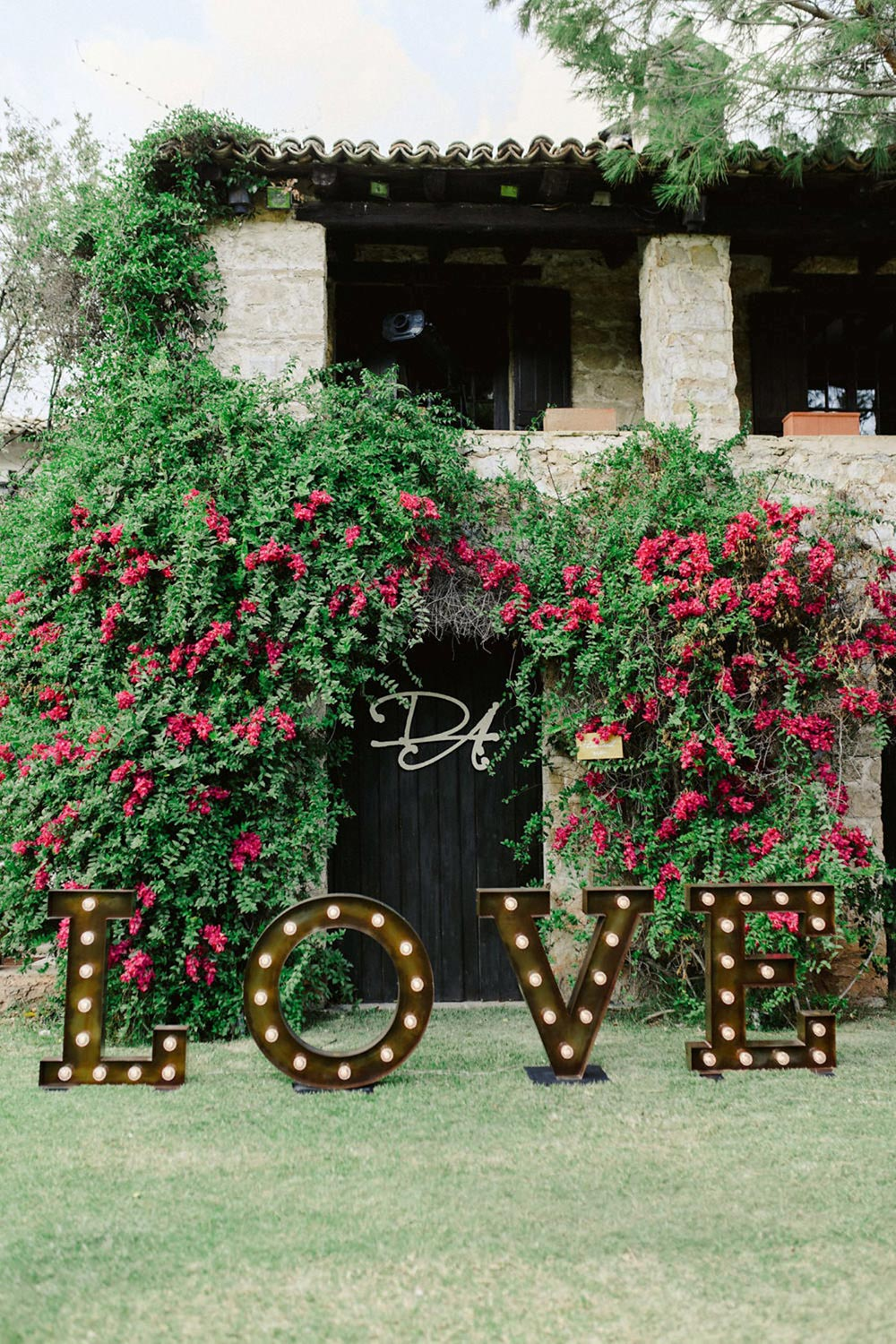 marquee letters wedding decor