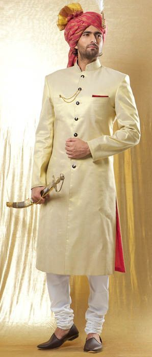 khusa-with-sherwani 20 Latest Style Wedding Sherwani For Men and Styling Ideas