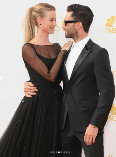 Adam-Levine-and-Behsati-Prinsloo Celebrities Couples Matching Outfits–25 Couples Who Nailed It