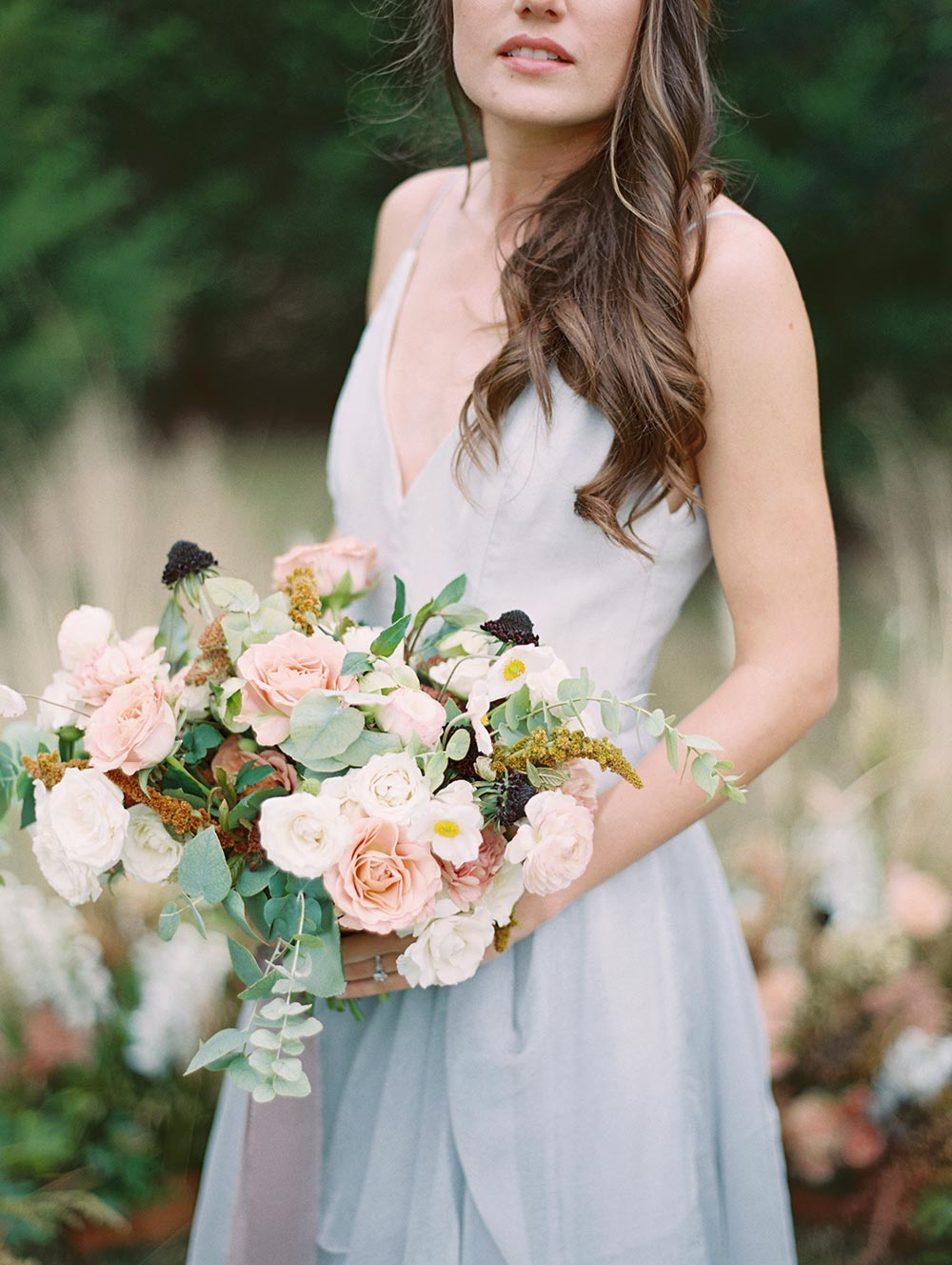 overgrown foraged flowers bridal bouquet