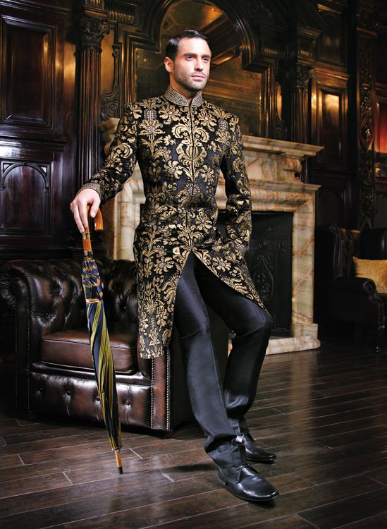 what-pants-to-wear-with-sherwani 20 Latest Style Wedding Sherwani For Men and Styling Ideas