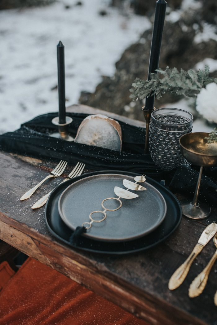 phases of the moon wedding place setting