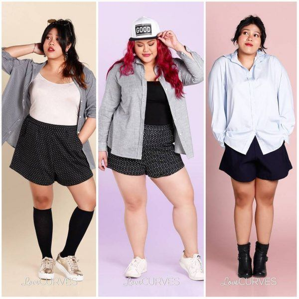 2-600x600 20 Ideas on How to Wear High Waisted Shorts for Plus Size Women