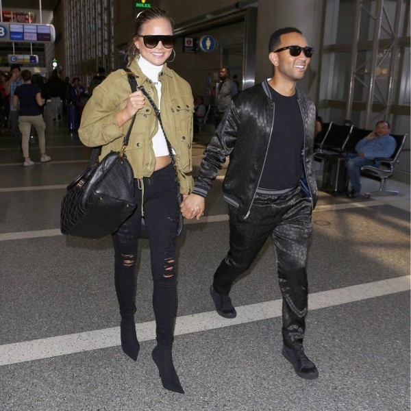 John-Legend-and-Chrissy-Teigen-600x600 Celebrities Couples Matching Outfits–25 Couples Who Nailed It