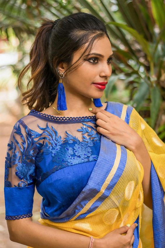 31-1 30 New Saree Blouse Designs 2018 You Must Try