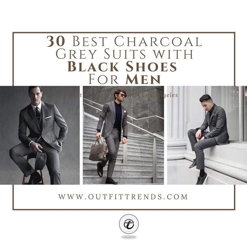 1 30 Best Charcoal Grey Suits with Black Shoes For Men