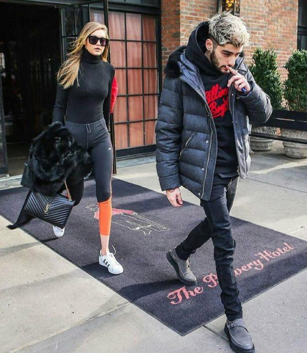 Zayn-Malik-and-Gigi-hadid-600x690 Celebrities Couples Matching Outfits–25 Couples Who Nailed It