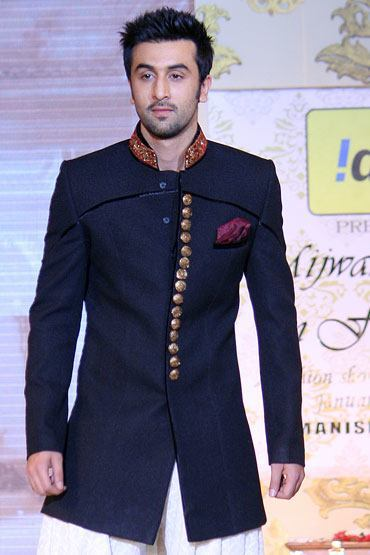 Ranbeer-kapoor-sherwani-style 20 Latest Style Wedding Sherwani For Men and Styling Ideas