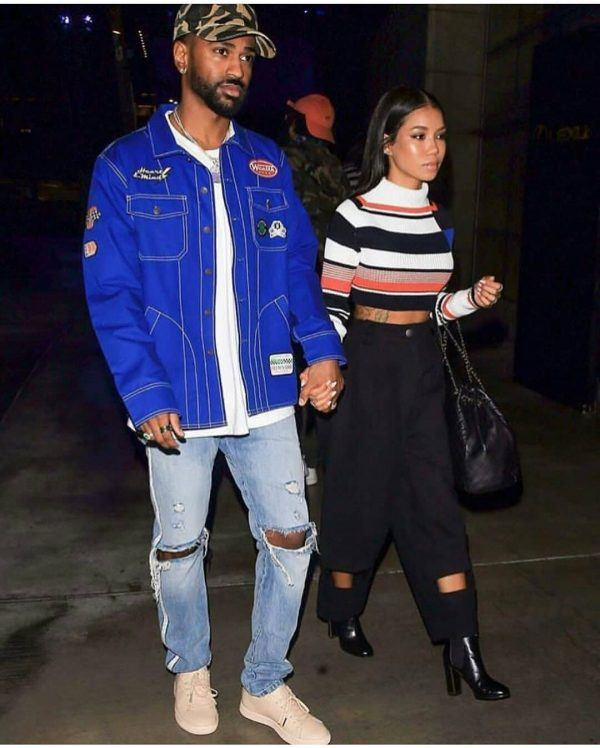 Jhene-Aiko-and-Big-sean-600x748 Celebrities Couples Matching Outfits–25 Couples Who Nailed It