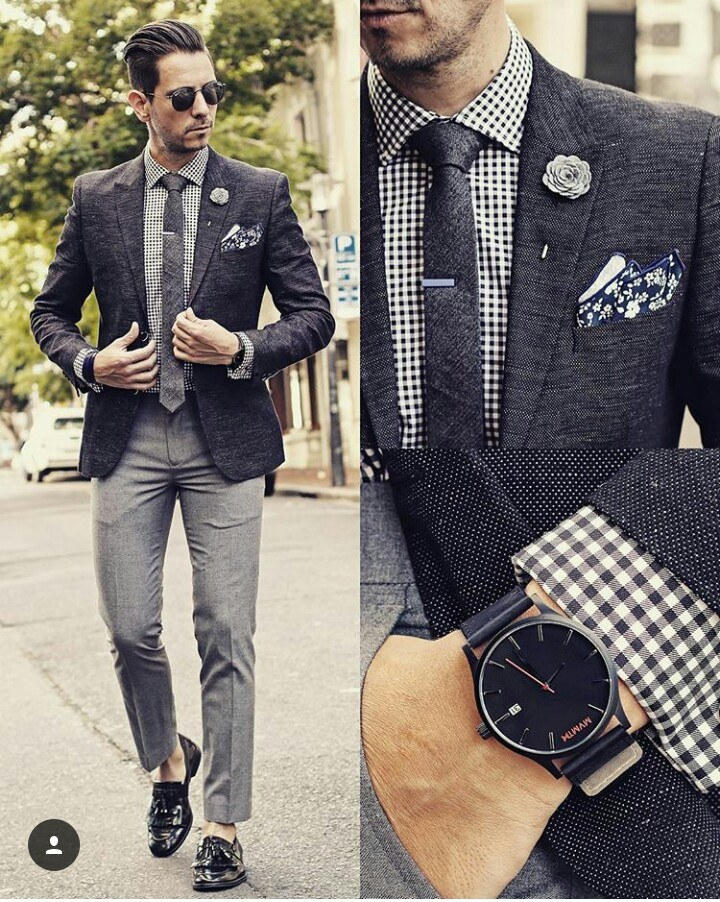 Mix-and-Match-with-Black-Loafers 30 Best Charcoal Grey Suits with Black Shoes For Men