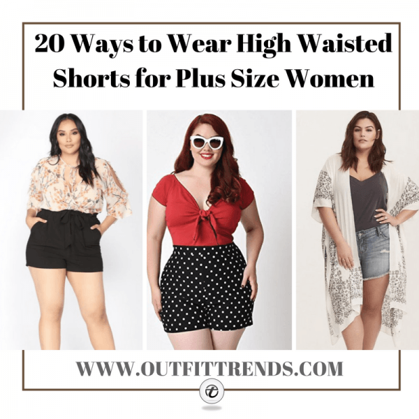 23-IDEAS-WHAT-TO-WEAR-WITH-COLD-SHOULDER-TOP-FOR-WOMEN-600x600 20 Ideas on How to Wear High Waisted Shorts for Plus Size Women