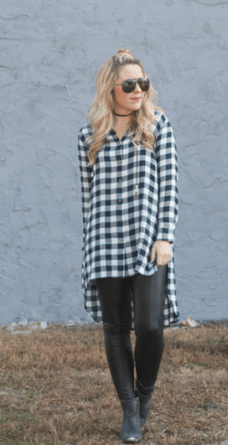 Tunics-with-legging-256x500 How to Wear Leggings Under a Dress- 24 Legging Outfit Ideas