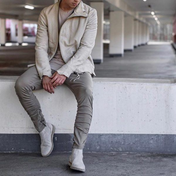 All-neutrals-600x600 25 Outfits to Wear with White Sneakers for Men