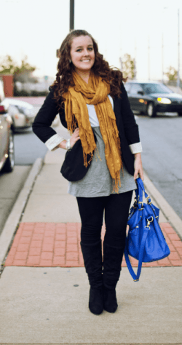 Casual-winter-outfit-1-264x500 How to Wear Leggings Under a Dress- 24 Legging Outfit Ideas