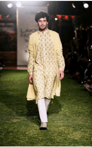 Kurta-with-cape-313x500 27 Latest Engagement Dresses for Men in India