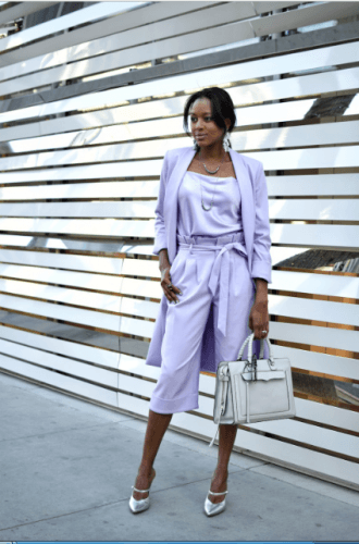 Pantsuit-for-formal-events-330x500 35 Best Ways to Wear Lilac Outfits For Women