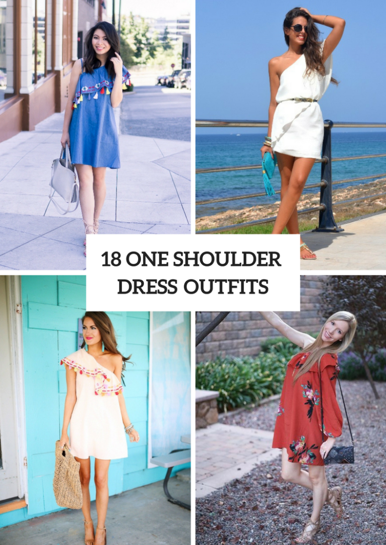 Charming One Shoulder Dress Outfits To Try