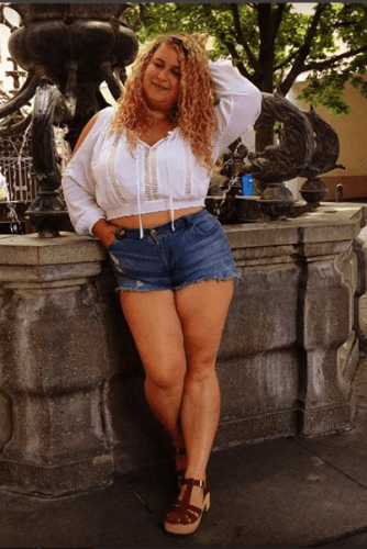 Short-Shorts-334x500 How to Wear Shorts for Plus Size–20 Plus Size Shorts Outfits