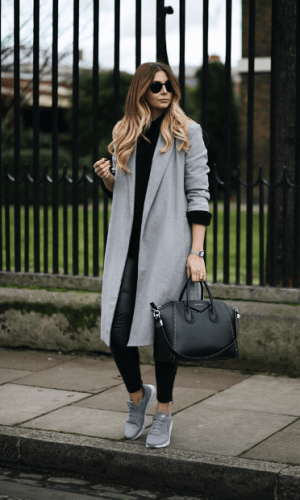 Street-Style-Outfit-300x500 How to Wear Leggings Under a Dress- 24 Legging Outfit Ideas