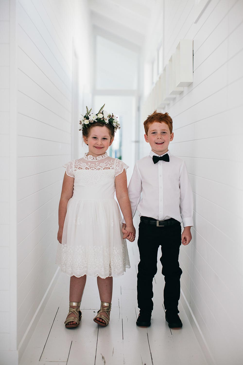 flower girl and ring bearer modern wedding fashion