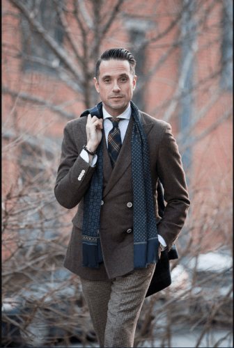 Business-casual-scarf-336x500 18 Best Tips and Business Casual Outfits For Men