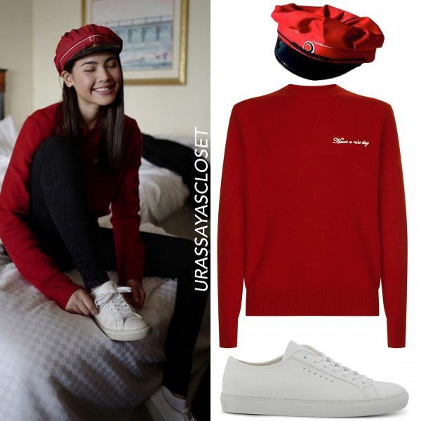 Red-and-White-600x600 25 Outfits to Wear With White Sneakers for Women