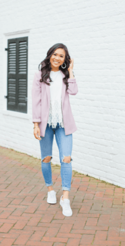 Lilac-Blazer-254x500 35 Best Ways to Wear Lilac Outfits For Women